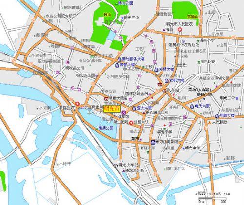 明光市区地图